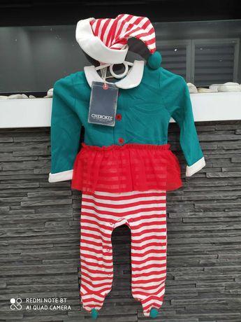 NOWY stroj pajac +czapeczka r. 80 cm