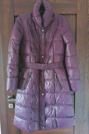 Nowa śliwkowo fioletowa dłuższa kurtka ze stójką marki Reserved 38 M