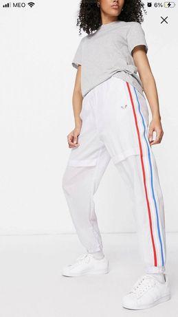 adidas Originals adicolor trefoil joggers in light grey