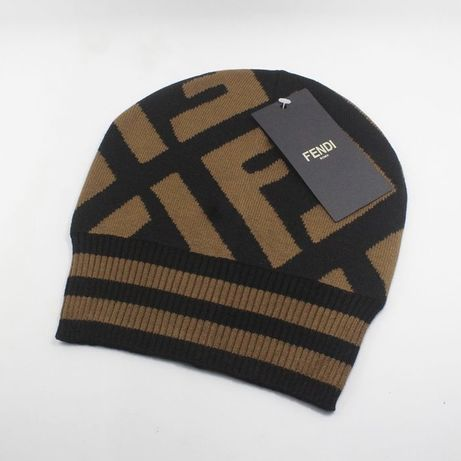 Czapka FENDI ! zimowa czapka brązowa czarna * Gucci Louis Vuitton