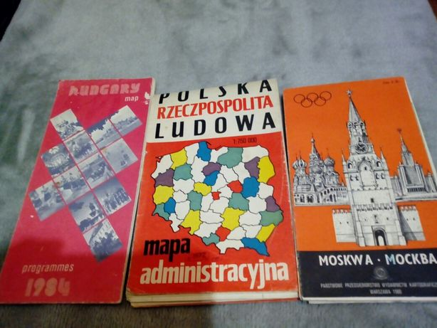 Mapa administracyjna PRL, Moskwy, Węgier