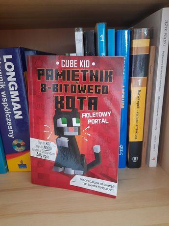 """Książka dla dzieci """"Pamiętnik 8-bitowego kota"""" Minecraft Cube Kid"""