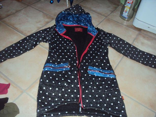 Bluza nowa xs/x 158/164 ciepła narzutka kurtka na polarze