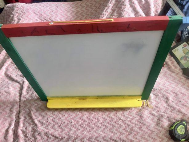 Мольберт детский магнитный двухсторонний, доска для рисования планшет