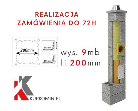 System kominowy z podwójną wentylacją PK2W Fi 200 9m - DOSTAWA GRATIS