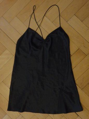 Koszula czarna do spania satynowa rozm. 40 L