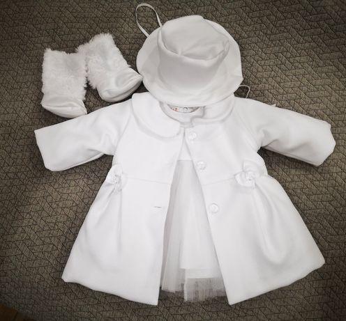 Komplecik do chrztu dla dziewczynki rozmiar 68