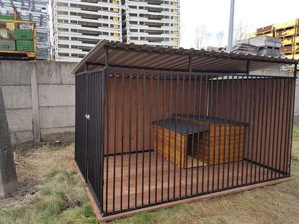 Kojce dla psów psa 2x1,50 Klatka Boks buda wiata śmietnik składzik