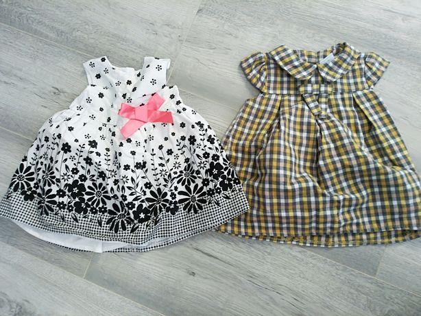 2 x sukienka 62 cm (0-3m) jak nowe