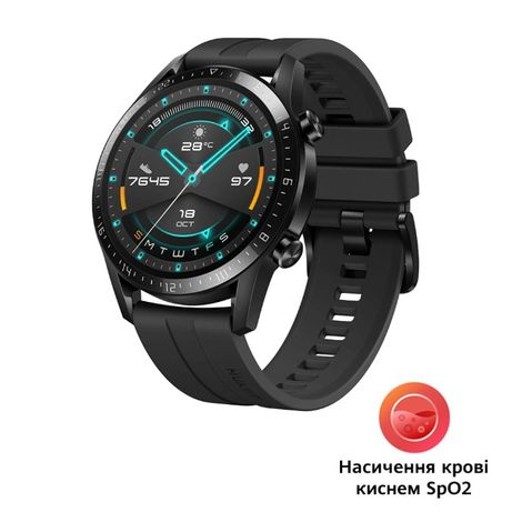 Смарт часы Huawei Watch GT 2 46mm Sport Black (Latona-B19S) SpO2