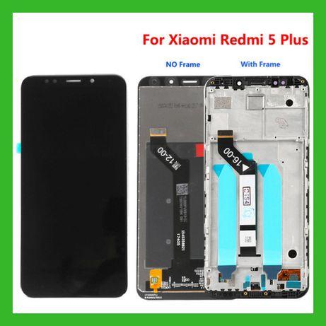 Дисплей Xiaomi Redmi 5 Plus Black White Модуль Екран Такскрин Ксиоми