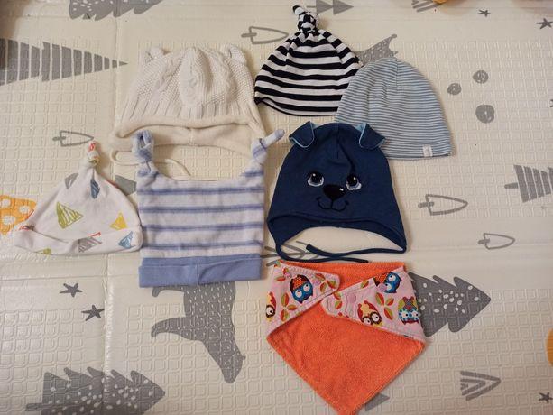 Шапочки для малыша 0-6 месяцев демисезонные на разную погоду HM, Next