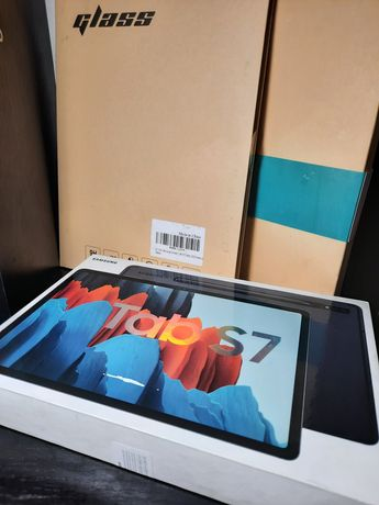 Новый Планшет Samsung Tab S7, 128GB + чехол с клавиатурой + 2 стекла
