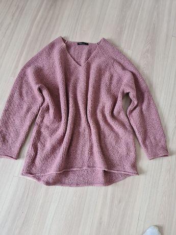 Sweter ciemny pudrowy roz