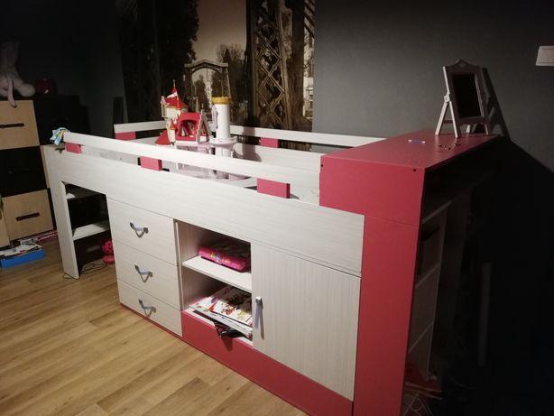 Meble dla dzieci łóżko dziecięce piętrowe biurko dla dziewczynki