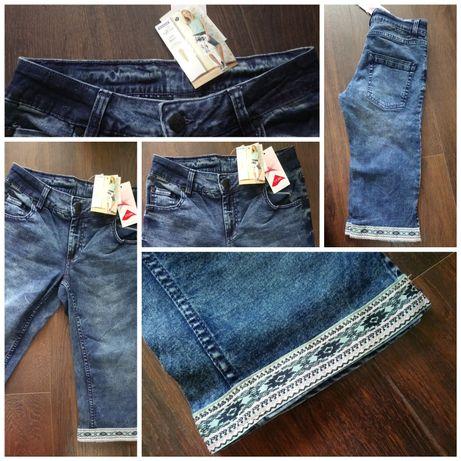 NOWE Szorty jeansowe przed kolano 36 S dżinsowe