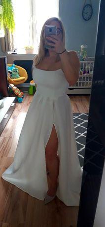 Śmietankowa suknia