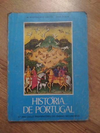 """Vendo livro escolar 1979 """"História de Portugal""""M. Martins e Vera Costa"""