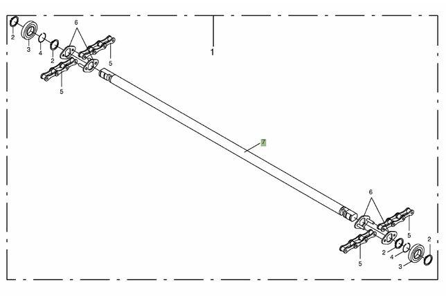 Łańcuch komory zwijającej Krone KR 125/ 155
