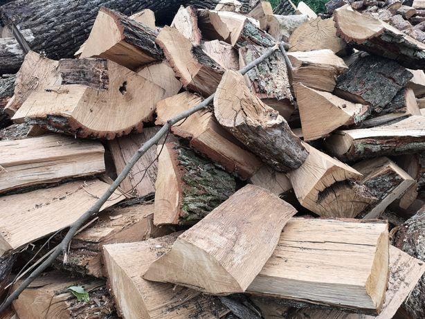 Drewno kominkowe opałowe dąb buk jesion grab