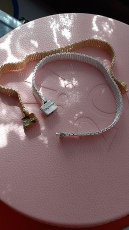 Bransoletka refleksions typu Pandora r 16.5cm Silver i Gold