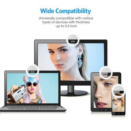 Ring Led anel para smartphone tablet portátil 9cm 3 níveis de luz