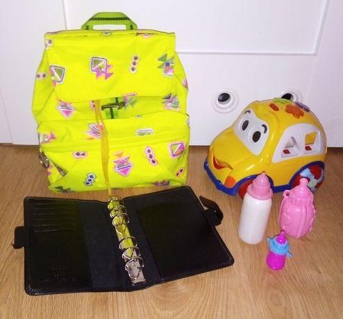 Zabawki, plecaczek mały