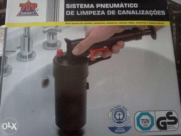 Sistema Pneumático de limpeza de Canalizacoes, Novo!