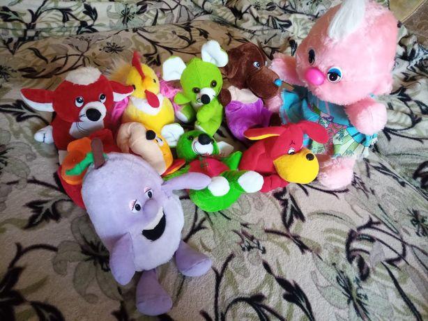 Мягкие игрушки и барабан Маша и Медведь пакетом