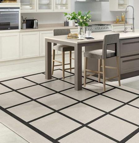 Carpete Tapete Geometric Greys - 200x290cm By Arcoazul