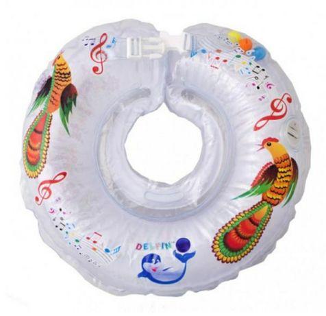 Музыкальный круг для купания младенцев Дельфин
