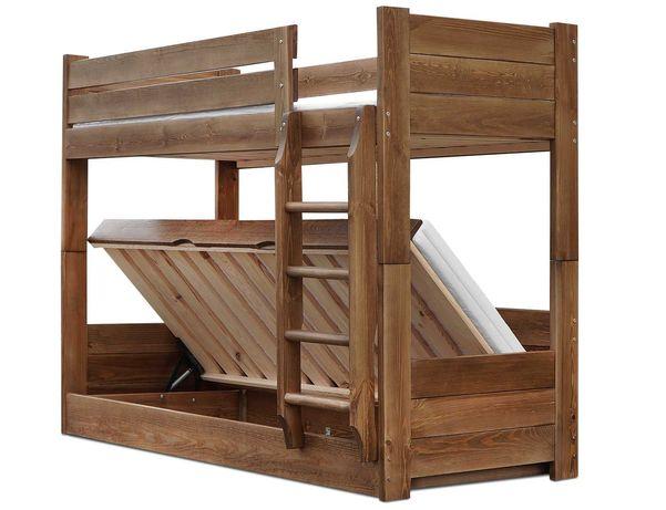 łóżko piętrowe EVER 90x200 otwierane z pojemnikiem 120 kg