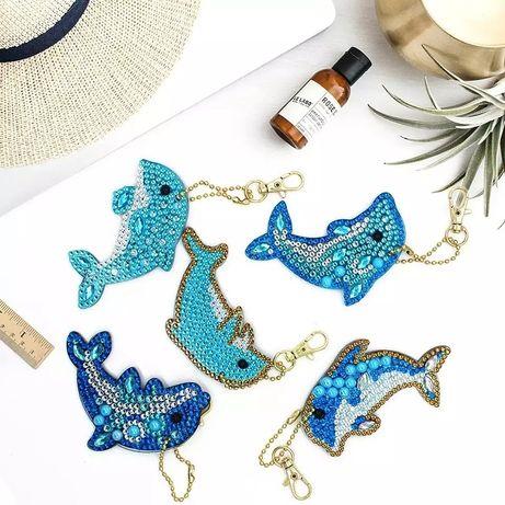 Набор Алмазной вышивки алмазная мозаика брелоки дельфин DIY рукоделие