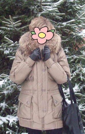 Зимова куртка, пуховик пух, перо розмір 46