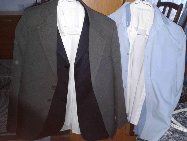 Рубашка белая длинный рукав короткий пиджак костюм школьный