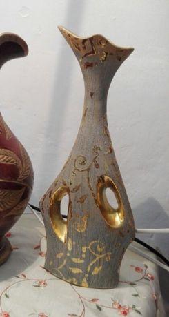 Vaso decorativo com dourados