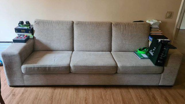 Sofá de Sala com Puff (Mesa)
