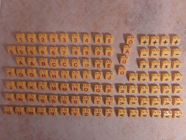 Klocki ala lego duplo literki cyferki