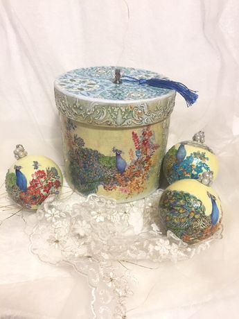 Набор Новогодние шары ,декупаж шары,шары декупаж набор