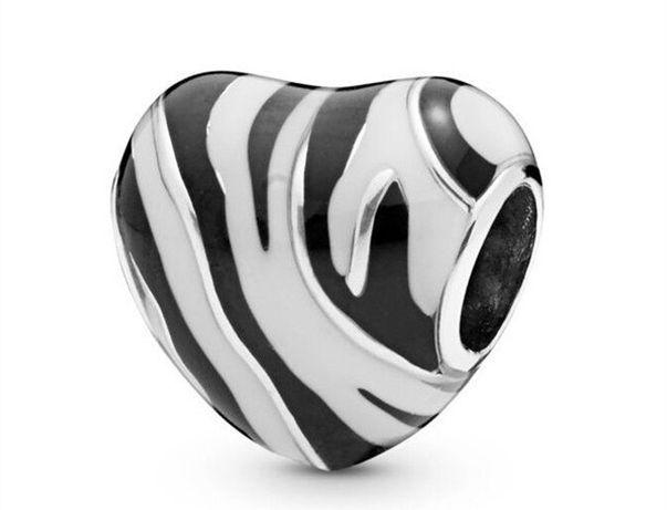 CHARMS SERCE Zebra 925 do Pandora Apart zawieszka