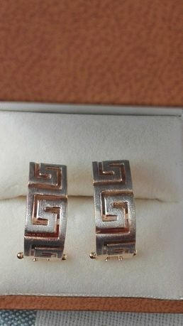 Kolczyki złote wzór Versace