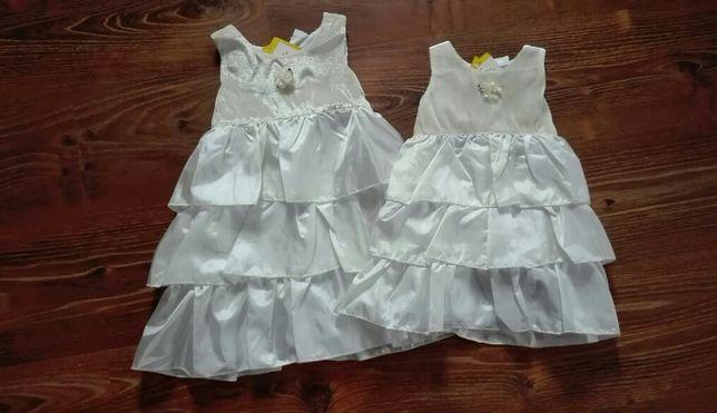 NOWA śliczna elegancka sukienka chrzest, roczek rozmiary 68, 74, 92