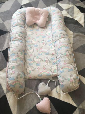 Кокон-гнездышко для новорожденных, позиционер двухсторонний + ортопеди