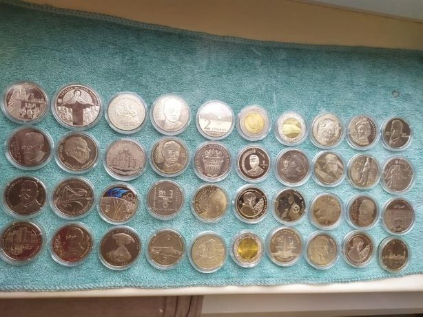 Памятные монеты Украины наборы монет по годам 1995,1996 ,1997 ,1998