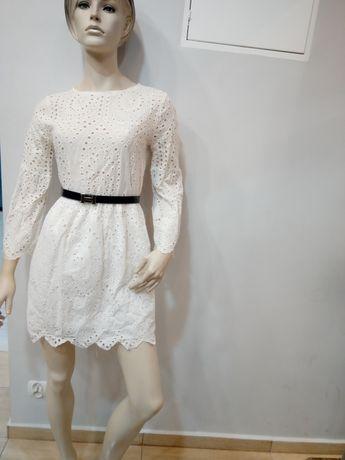 Biala koronkowa sukienka L/Xl