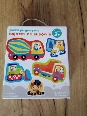 Puzzle CzuCzu pojazdy na budowie 2+