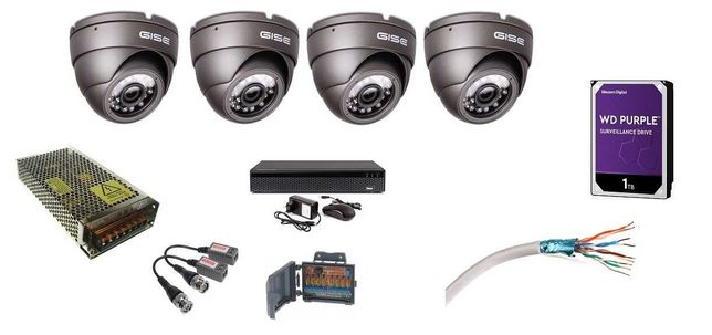 zestaw 4-32 kamery 5mpx UltraHD 4K montaż monitoringu kamer Lidzbark