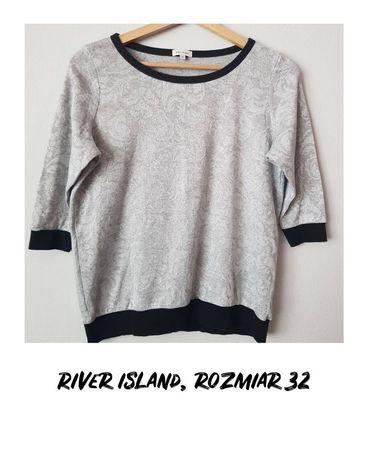 Szara bluza z rękawem ¾, River Island, rozmiar 32
