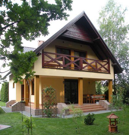 Dom całoroczny na działce letniskowej w Naprusewie, las, jezioro
