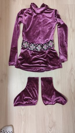 Платье, комплект  для фигурного катания, размер 6-8 лет